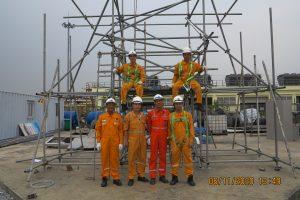 Khoá đào tạo Giám sát, thiết kế và kiểm tra lắp dựng giàn giáo theo tiêu chuẩn quốc tế BS1139 cho Tổng Công ty Khí Việt Nam